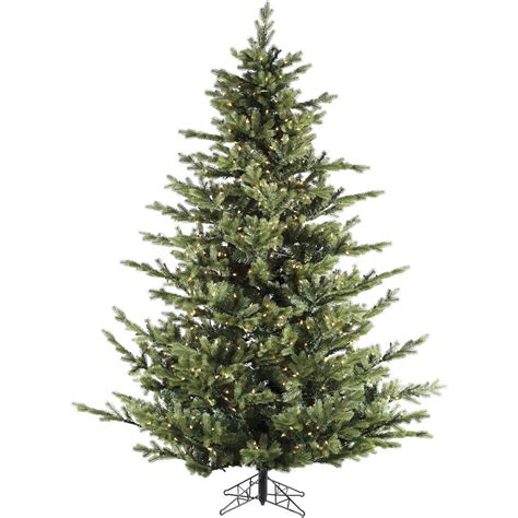 pre lit or unlit tree home accents 7 5 ft pre lit dunhill fir hinged