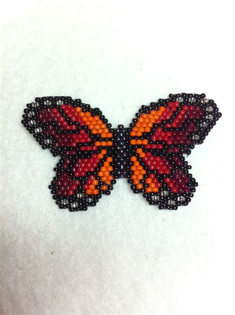 beaded butterfly pattern beaded sunset monarch butterfly beaded butterfly want