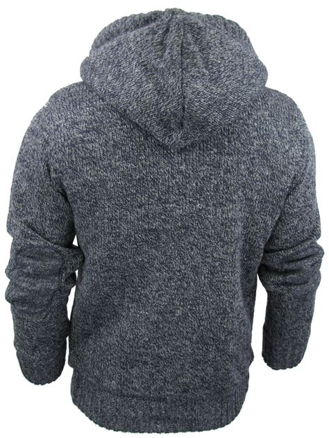 mens knit hoodie mens tokyo laundry cable knit hoodie jumper cardigan