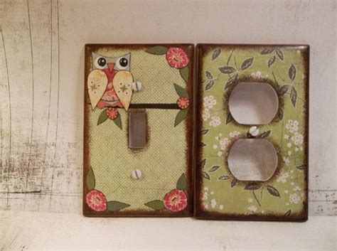decoupage light switch covers 17 best images about owls for the nursery on