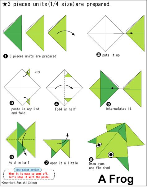 frog origami step by step origami a frog