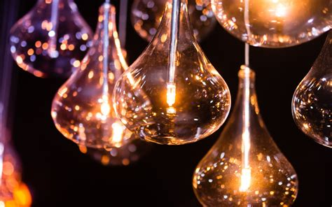 desktop lights light bulbs the miracle of electricity hd wallpapers 4k