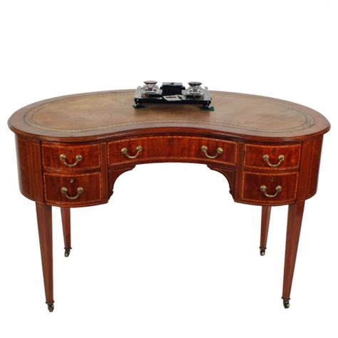 kidney shaped writing desk kidney shaped writing desk 19th century satinwood kidney