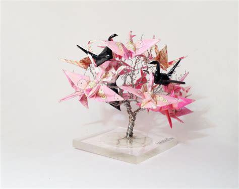 origami crane tree origami crane tree wire tree sculpture japanese