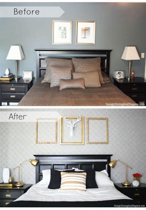 diy bedroom design ideas decorating a bedroom on a budget with diy stencils