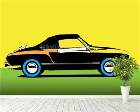 Car Wallpaper Decorating by Pop Car Wallpaper Wall Mural Wallsauce Uk