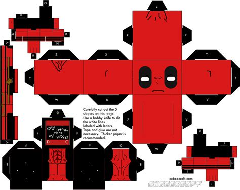 www paper craft papercraft papercraft deadpool new on the
