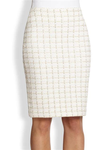white knit pencil skirt st plaid knit pencil skirt in white bright white