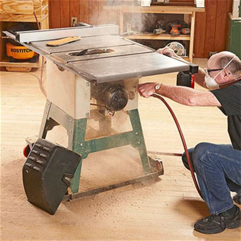 dust collection woodworking grime stoppers rid your tablesaw of dust