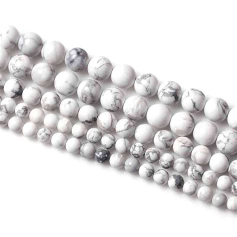 how big is 4mm bead 15 quot strand white turquoise bead