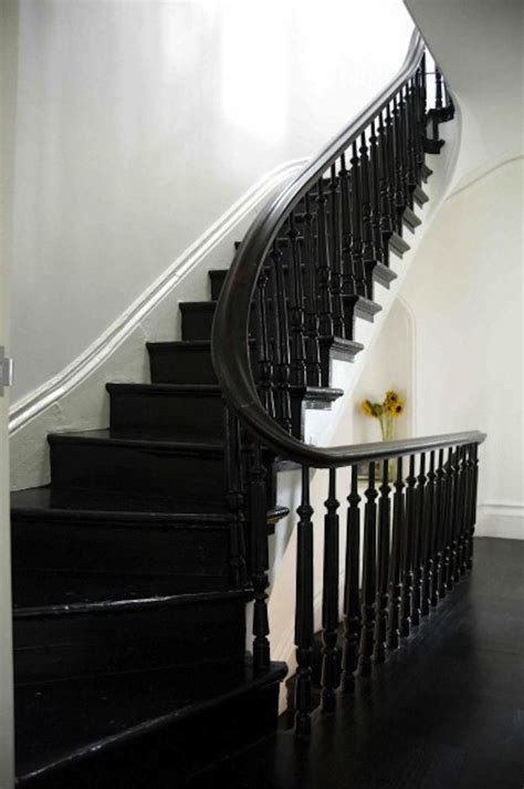 black staircase black painted stairs on black stairs black