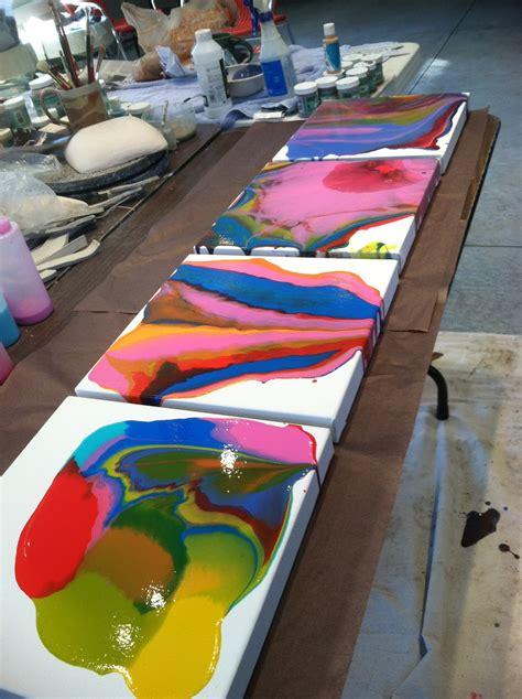 medium for acrylic paint on canvas thiel studio 187 painting tutorial liquitex pouring
