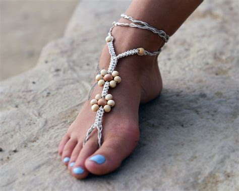 how to make foot jewelry hemp foot sandals 1 pair foot jewelry sandals