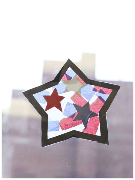 tissue paper stained glass craft for tissue paper stained glass fourth of july craft for