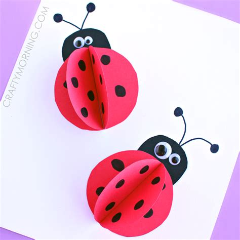 3d craft paper 3d paper ladybug craft for crafty morning