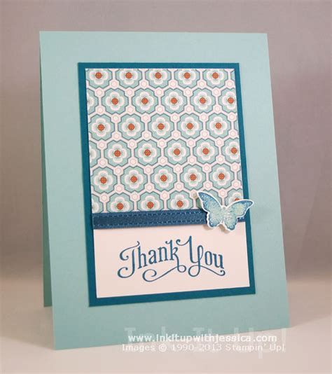 how to make a thank you card pattern paper thank you cards ink it up with
