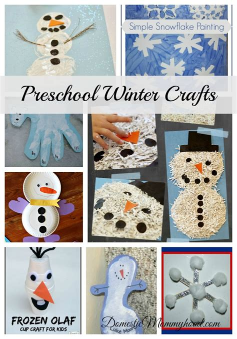 winter craft projects for preschoolers preschool winter crafts domestic mommyhood