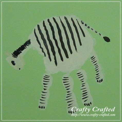 zebra craft for crafty crafted 187 archive crafts for children
