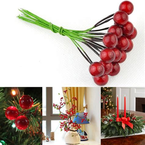 berries decorations 10pcs artificial fruit cherries berries