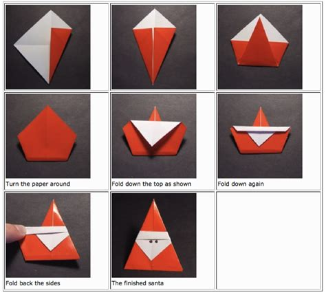 how to make a santa origami origami jasminesjapanese
