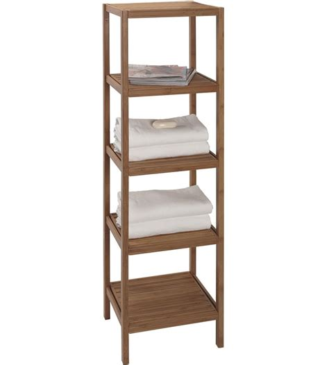 bathroom shelf storage bamboo shelving unit in bathroom shelves