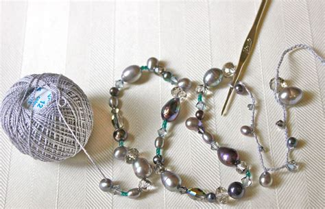 how to make crochet jewelry with beaded crochet necklace big a a