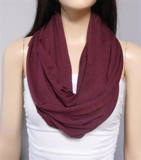 burgundy knit scarf wine burgundy maroon infinity scarf by