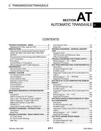 transmission control 2009 nissan maxima on board diagnostic system download 2004 nissan altima automatic transmission section at pdf manual 384 pages
