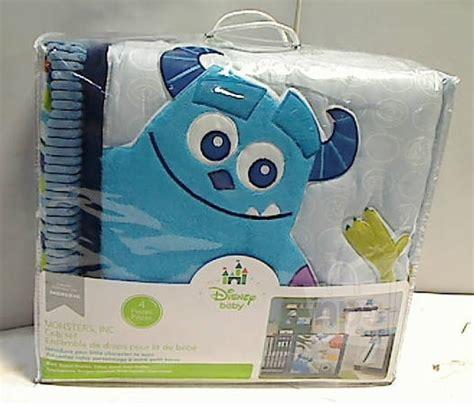 monsters inc crib bedding set 4 disney baby 25953 monsters inc crib bedding set