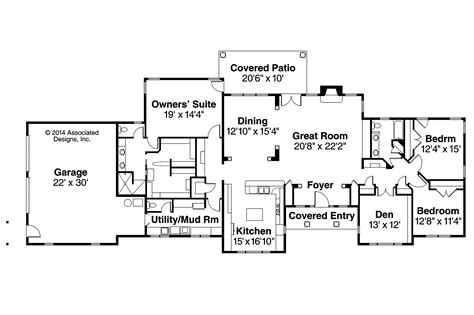 houses and floor plans ranch house plans parkdale 30 684 associated designs