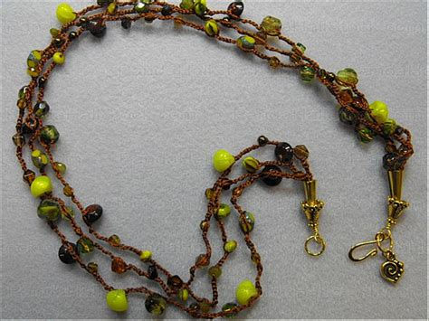 how to bead crochet how to crochet beaded necklaces nbeads