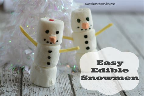 easy edible crafts for easy edible snowman