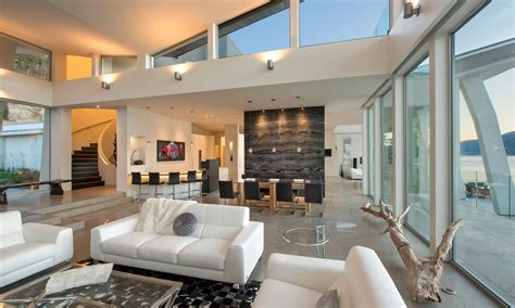 maison home interiors okanagan lake waterfront home with minimalist