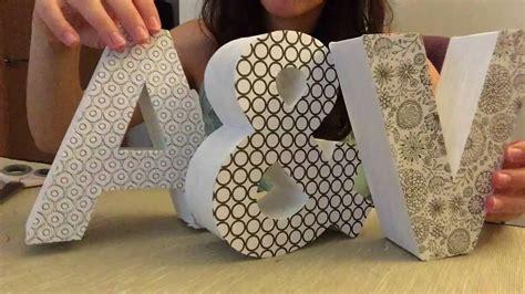 letras de carton decoradas como decorar letras de cart 243 n youtube