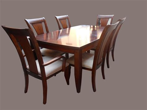 dining table and chairs for 6 uhuru furniture collectibles mahogany dining table w 6