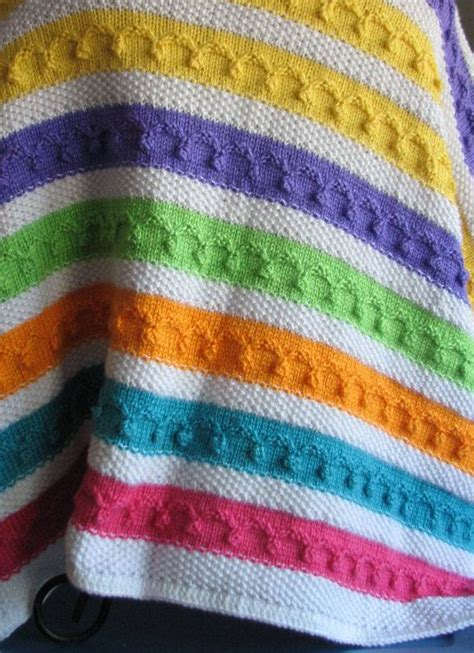 multi coloured knitted baby blanket 17 images about cobijitas para bebe on