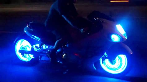 led lights for motorcycles blue led lights on your motorcycle by all things chrome