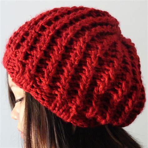 best yarn for knitting hats rickrack rib slouchy hat purl avenue