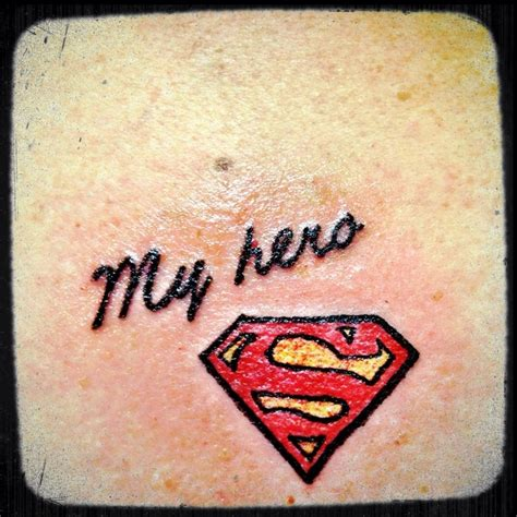 i like this cause my dad has the superman logo tattooed on