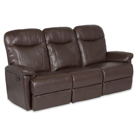 buy leather recliner sofa leather recliner sofa 3 seater kronos brown price
