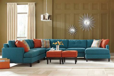 teal sectional sofa teal color custom sectional sofa made in the usa los angeles