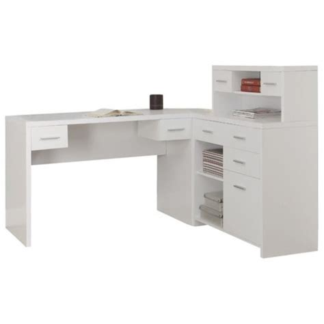 l shaped home office desk with hutch l shaped home office desk with hutch in white i 7028