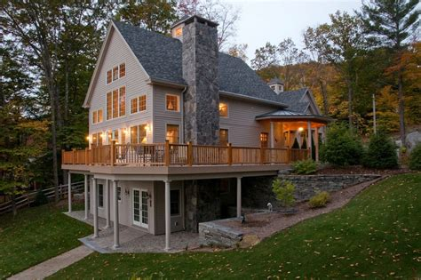 walkout basement home plans walkout basement house plans for a traditional basement with a lake home and lake sunapee nh