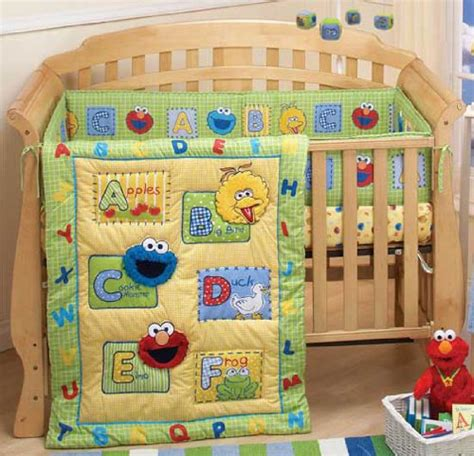 elmo bedding for cribs sesame a is for appls baby crib bedding set