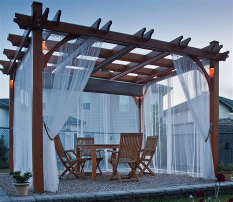 pergola kit 10x12 with retractable canopy contemporary patio vancouver by outdoor living