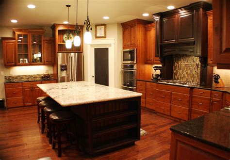 Cherry Cabinets by Wood Kitchens Cherry Color Traditional Kitchen
