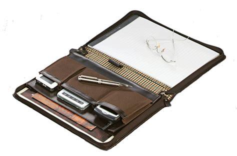 leather portfolio with zipper mahogany leather zippered padfolio