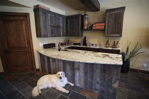 Bathroom Wall Covering Ideas reclaimed wood bar traditional kitchen denver by