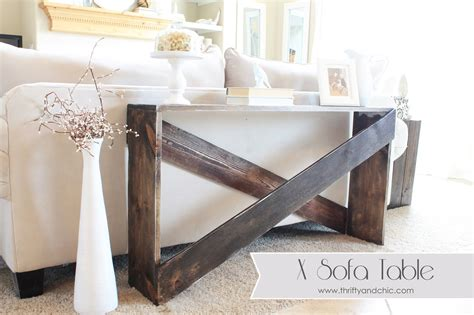 how to use a sofa table thrifty and chic diy projects and home decor