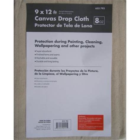 home depot paint drop cloth premium 8 3 4 ft x 11 3 4 ft canvas drop cloth 633792